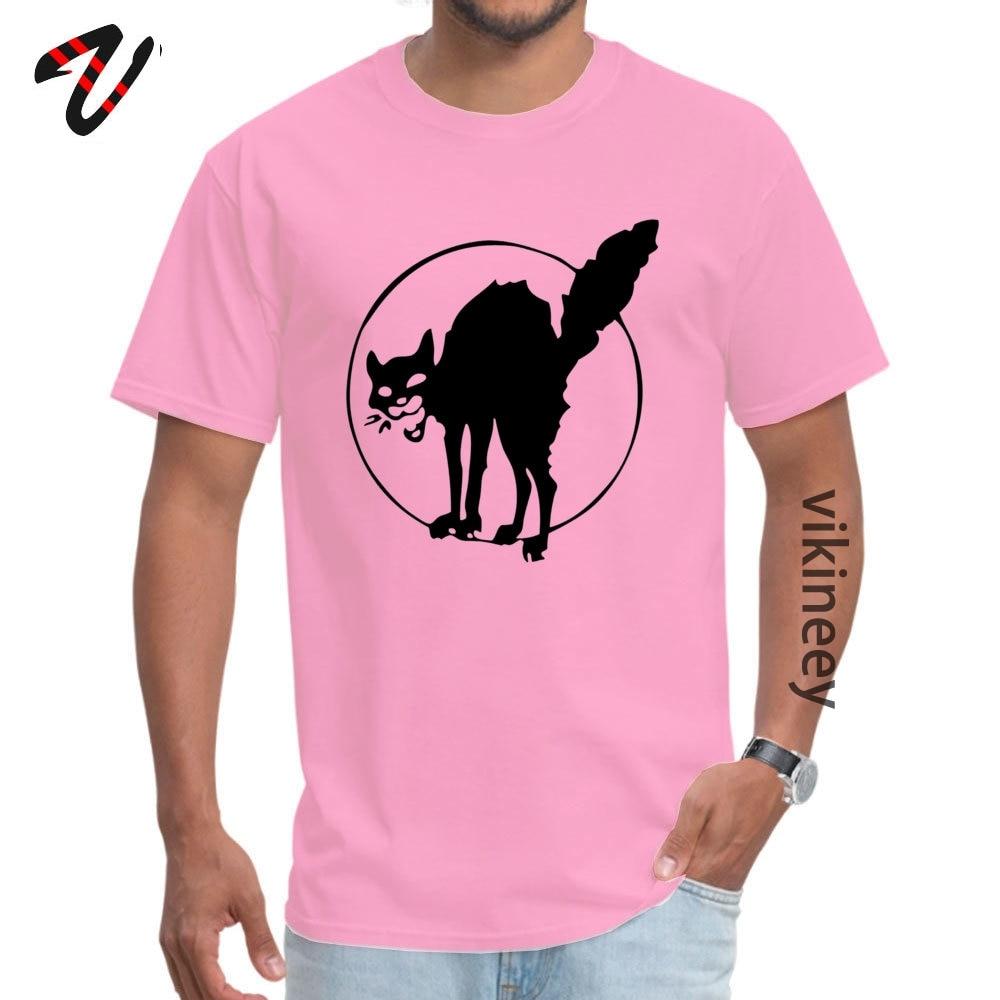 Anarchist black cat T-shirts Short Sleeve Custom 2019 Newest Mens Labor Day Tops Shirts Custom Tops Shirt O-Neck Cotton Anarchist black cat 7590 pink