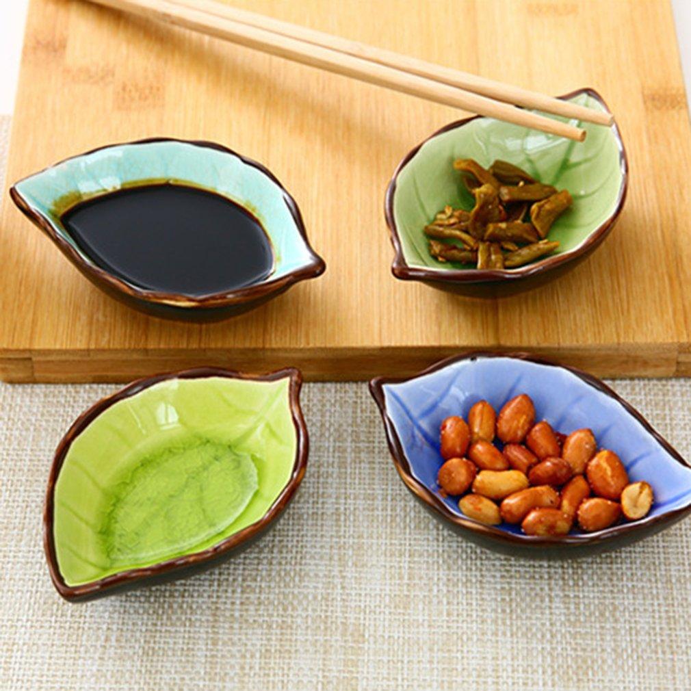 Details about  /Cute Leaf Design Ice Crack Glazed Ceramic Saucer Mini Multi-Usage Dish Saucers