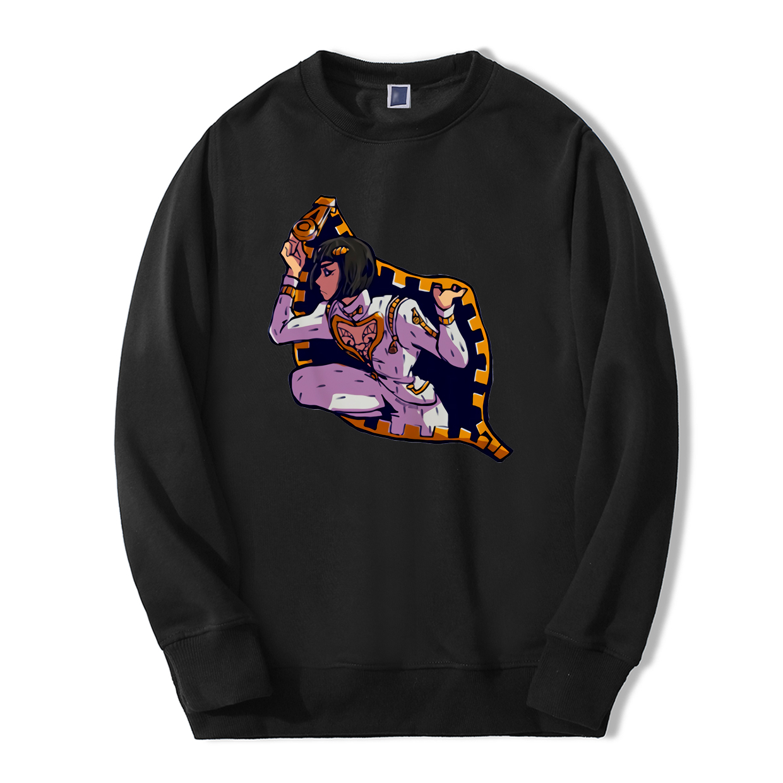 JoJo Bizarre Adventure Sweatshirts Men 2019 Spring Winter Fashion Sticky Fingers Bucciarati Men Hoodie Fleece Harajuku Tracksuit