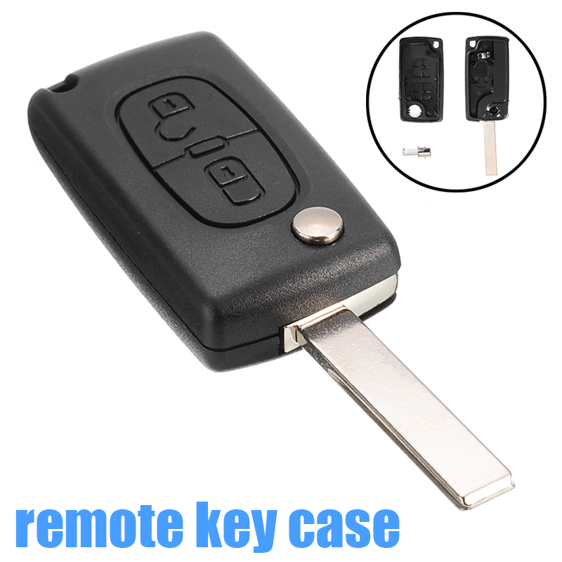 1pc 2 Button Flip Remote Key Fob Shell Case Fit for PEUGEOT 307 308 407 408 207