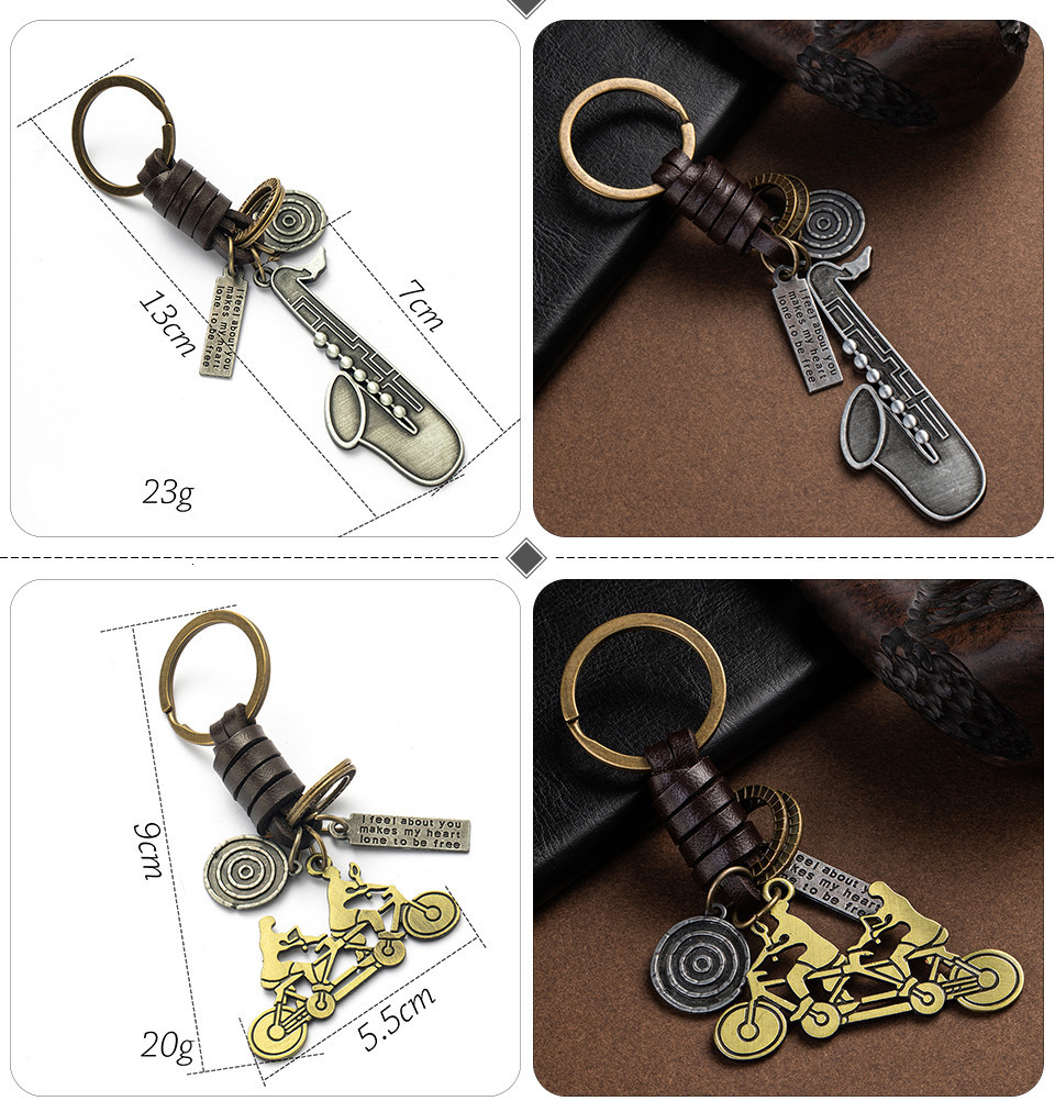 Fashion Car Key Chain Ring Lovers Couple Music Guitar Keyboard Gamepad Elephant Whistle Hat Tank Motorcycle Scooter for Key Tags Gifts (125)