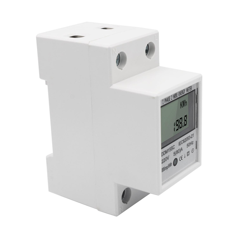 Contador Electrico Digital Carril LCD Medir Consumo 220V Envio 24-72 Horas