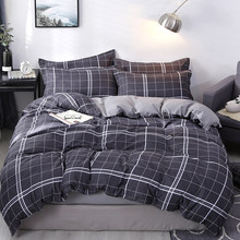 High-quality bedding set White striped square bed sheet pillowcase & duvet cover single Twin full queen king size No quilt(China)