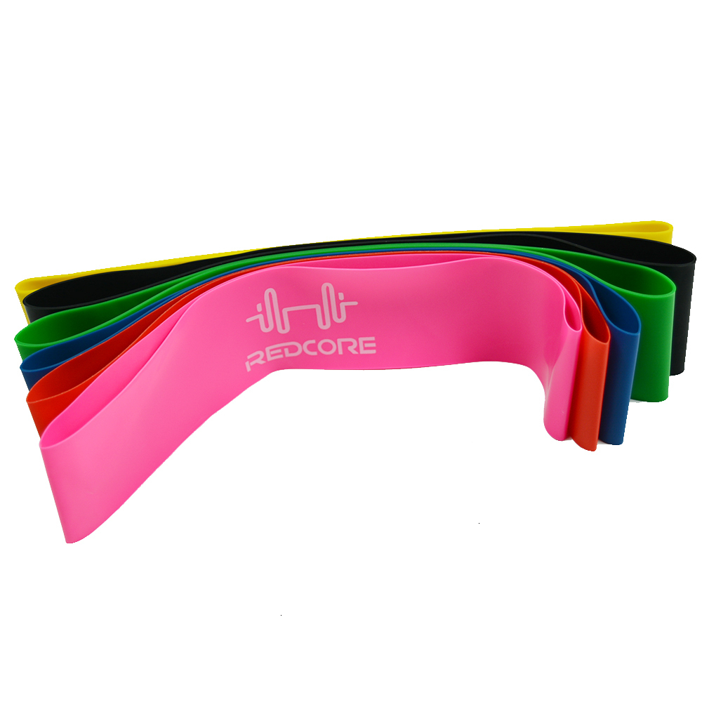 6 Colors Yoga Resistance Bands Workout Training Pilates Rubber Loops 0.35mm-1.3mm Sport Elastic Bands for Fitness Body Building  (12)