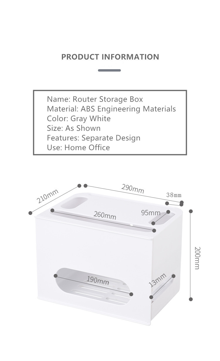 Double Layers Drawer Type WIFI Router Storage Box 67