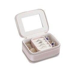 Шкатулка для ювелирных изделий косметическая коробка для хранения макияж упаковка Органайзер Многофункциональный серьги контейнер для ко...