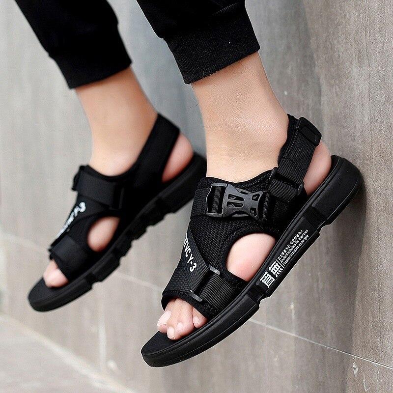 British Style MEN/'S Sandals Breathable Versatile Anti-slip Wear-Resistant Korean-style-Style Fashion Gladiator Sandals Soft Bott