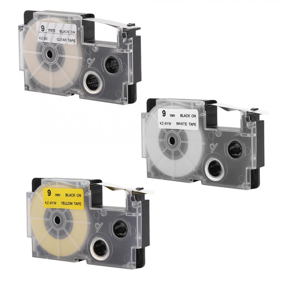 9mm Printer Tape Cartridge for Casio Label Maker KL-60//120//170//780//820 KL-7400