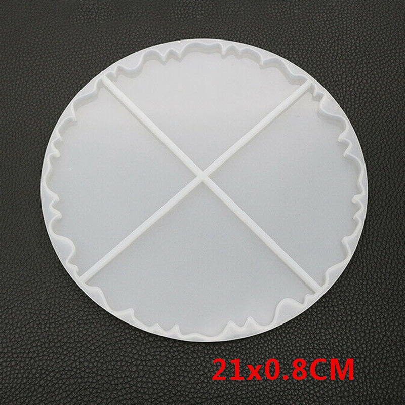 Wave Coaster Resin Casting Mold Silicone Jewelry Agate Making Mould Tool Craft