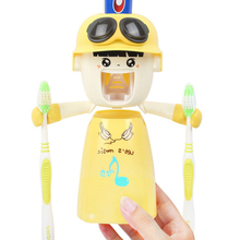 Toothbrush-Holders Toothpaste-Squeezer Automatic Cartoon with Cup Cute Hands-Free Children