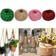 Twine-Cord Packing-Strings Hemp-Rope Gift Jute Burlap Hessian Christmas-Party Home-Decor
