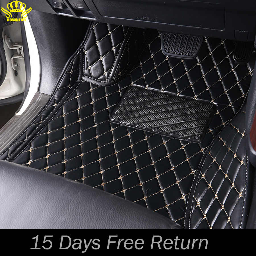 leather car floor mats for Toyota Camry Land Cruiser Prado Prius Corolla 2000-2019 Custom auto foot Pads automobile carpet cover