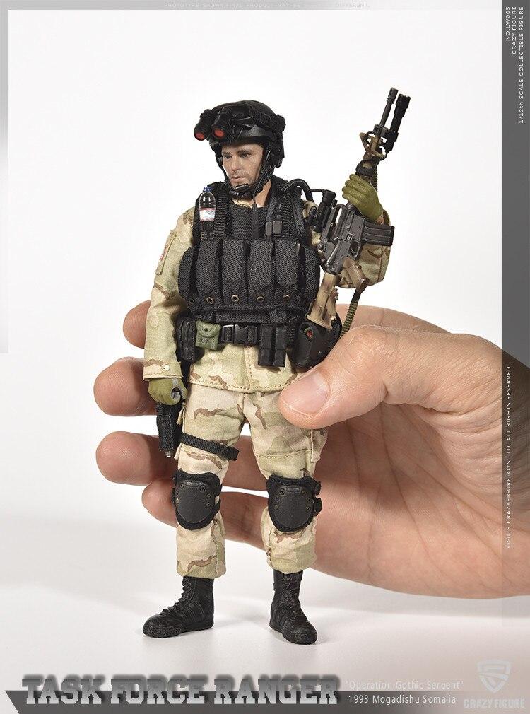 Crazy Figure LW005 1//12 Master Sergeant  6/'/' US Delta Special Force Soldier Set