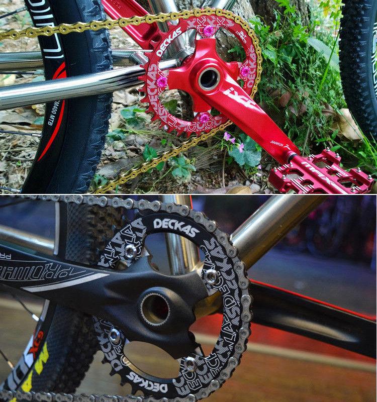 DECKAS Chainring 96BCD-S Narrow Wide MTB Chain Ring MTB Road Bicycle RoundOval Chainwheel 32-38T Fit SHIMANO XTR,XT,SLX (8)