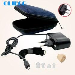 Перезаряжаемый беспроводной слуховой аппарат, мини Ультра маленький Невидимый звуковой усилитель, регулируемый в ухо, усилитель звука, слу...