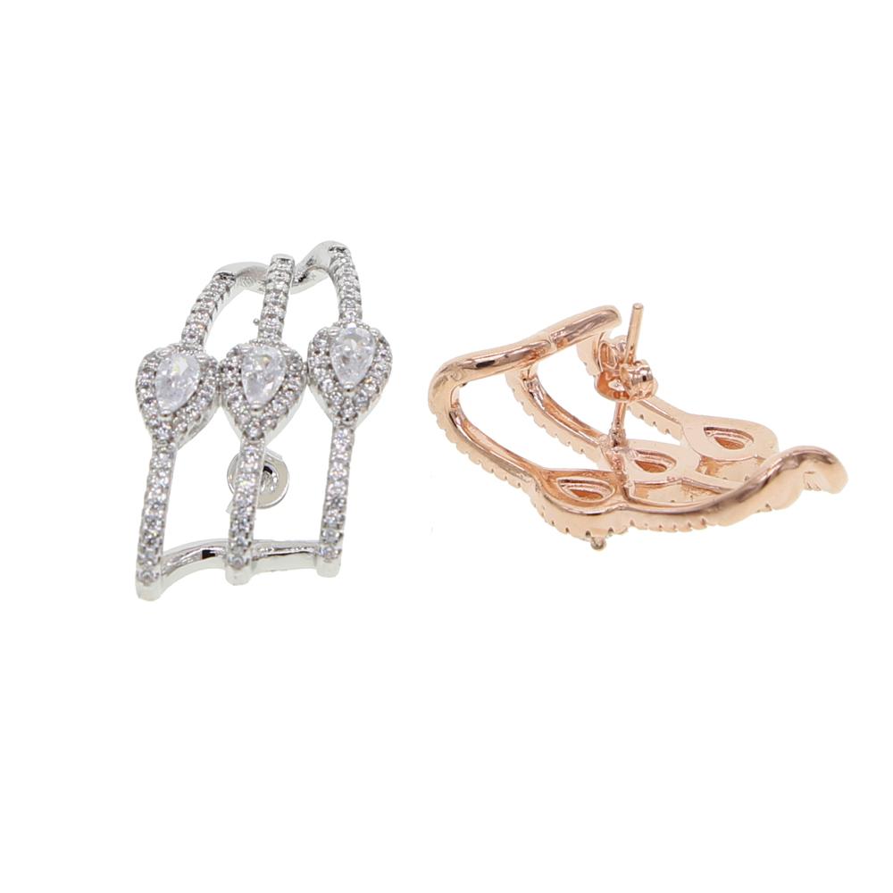 brass cz earring Y (7)