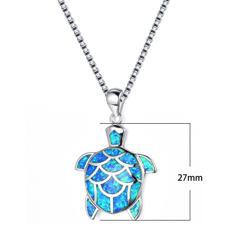 Size of Cute Turtle Necklace