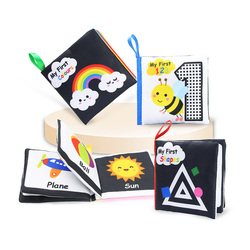 Coolplay тканевые книги мягкие детские книги звук шелеста Детские тихие книги Обучающие Игрушки для раннего развития от 0 до 12 месяцев погремуш...