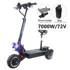 FLJ Adult Electric Scooter with seat 48V/1200W / 500W kick scooter foldable e big wheel electro bike electrico