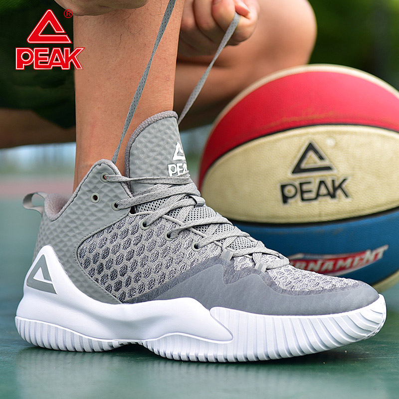 PEAK Basketball-Shoes Rebound Master Outdoor Breathable Gym Anti-Slip Men title=
