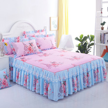 Bedspread Bed-Skirt Single Fitted-Sheet Dust-Ruffle Queen Double-Bed New 1pc Sanding-Lace