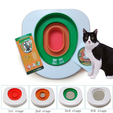 Pet Cat training Toilet Seat Pet Plastic litter Box Tray Kit Professional Trainer Clean Kitten Healthy Cats Human Toilet Cat Mat