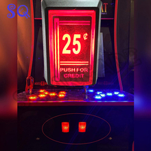 Game Coin-Operated Arcade Micro-Switch Push Red for Credit LED with 25-Cent 1pcs