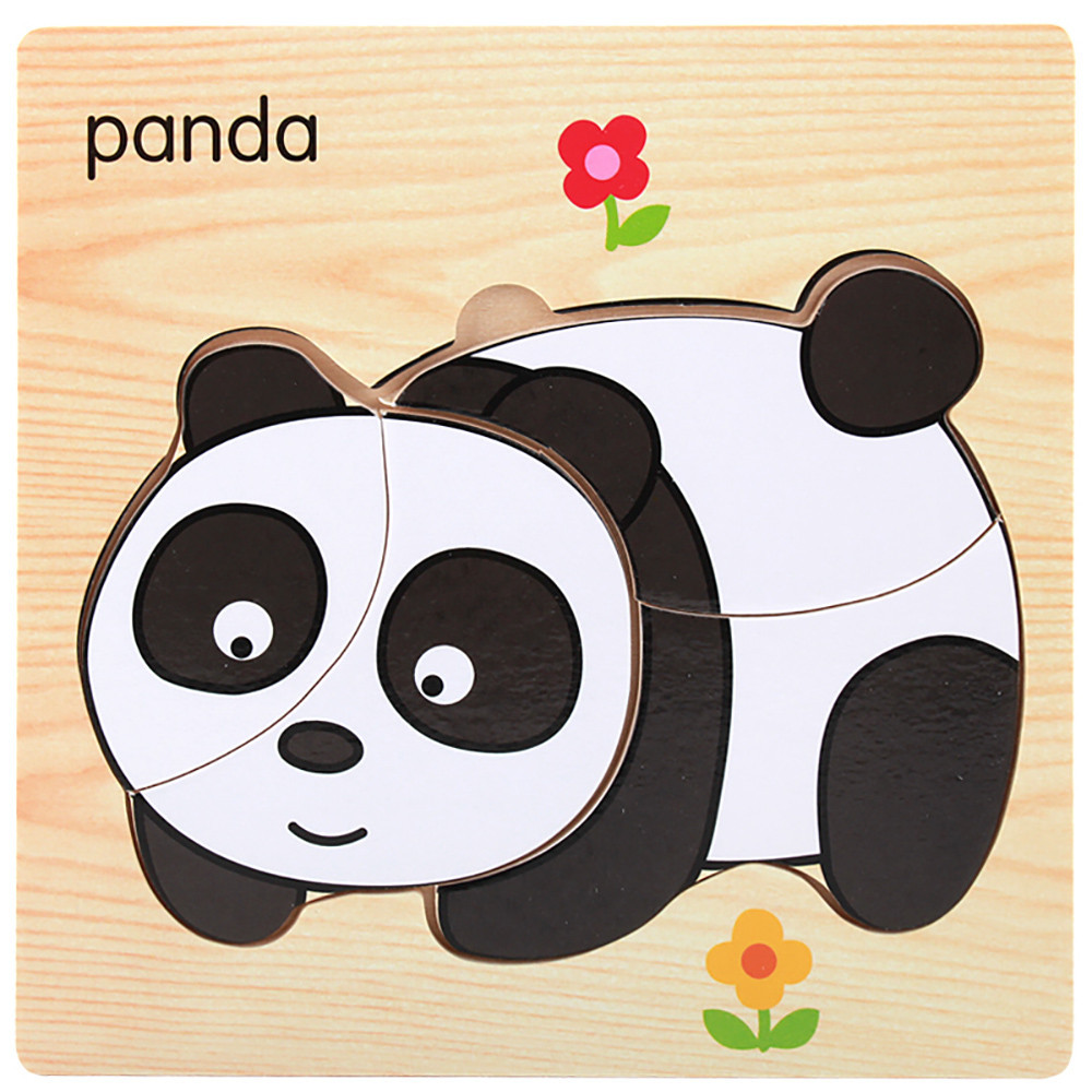 Learning Education Baby Toys Cartoon Animals and Vehicle Wooden Puzzles Infant Early Head Start Training Puzzle #A
