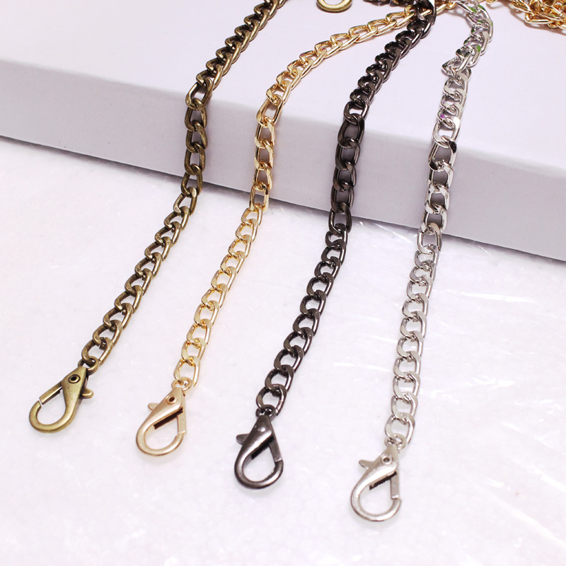 Silver Bag Chain Bag-Accessories Handbag Chains-Shoulder-Bag-Strap Diy Purse Metal Gold title=