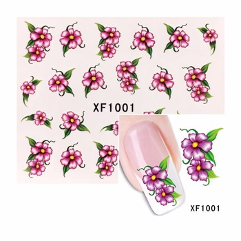 ZKO 1 Sheet Flower Nail Sticker Water Decals Nail Art Water Transfer Stickers Nails Tools For Nails