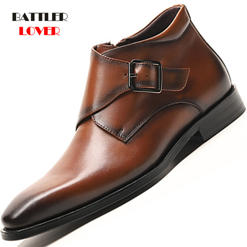 2019 Spring New Arrivals Fashion Ankle Boots Men Genuine Leather Motorcycle Boots Wear Comfortable Autumn Shoes Mens Business