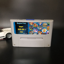 Remix-Game-Card Consoles Game-Cartridge-Support Super-China for 16-Bit Eur/japan 800-In-1