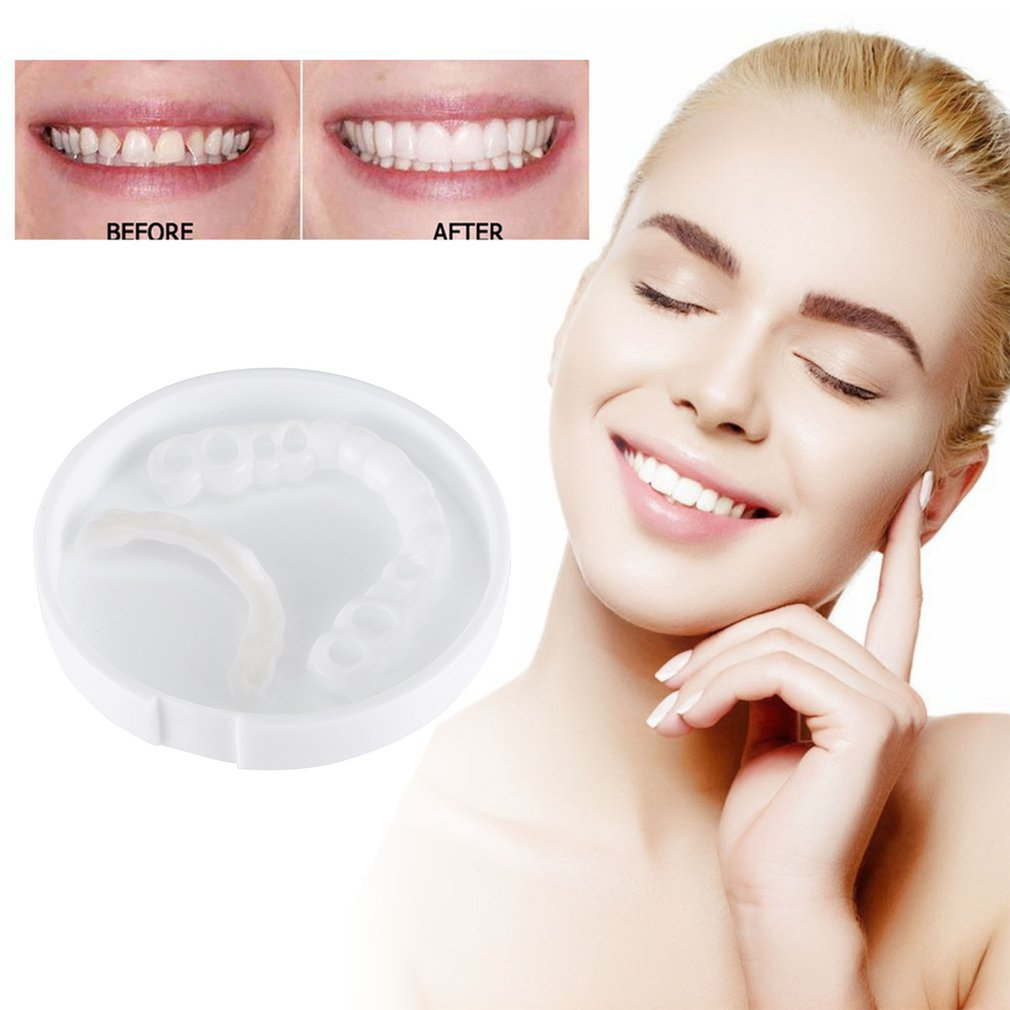 Tooth-Cover Cosmetic Whitening Perfect Smile Instant-Teeth for Upper One-Size/fits Denture-Care title=