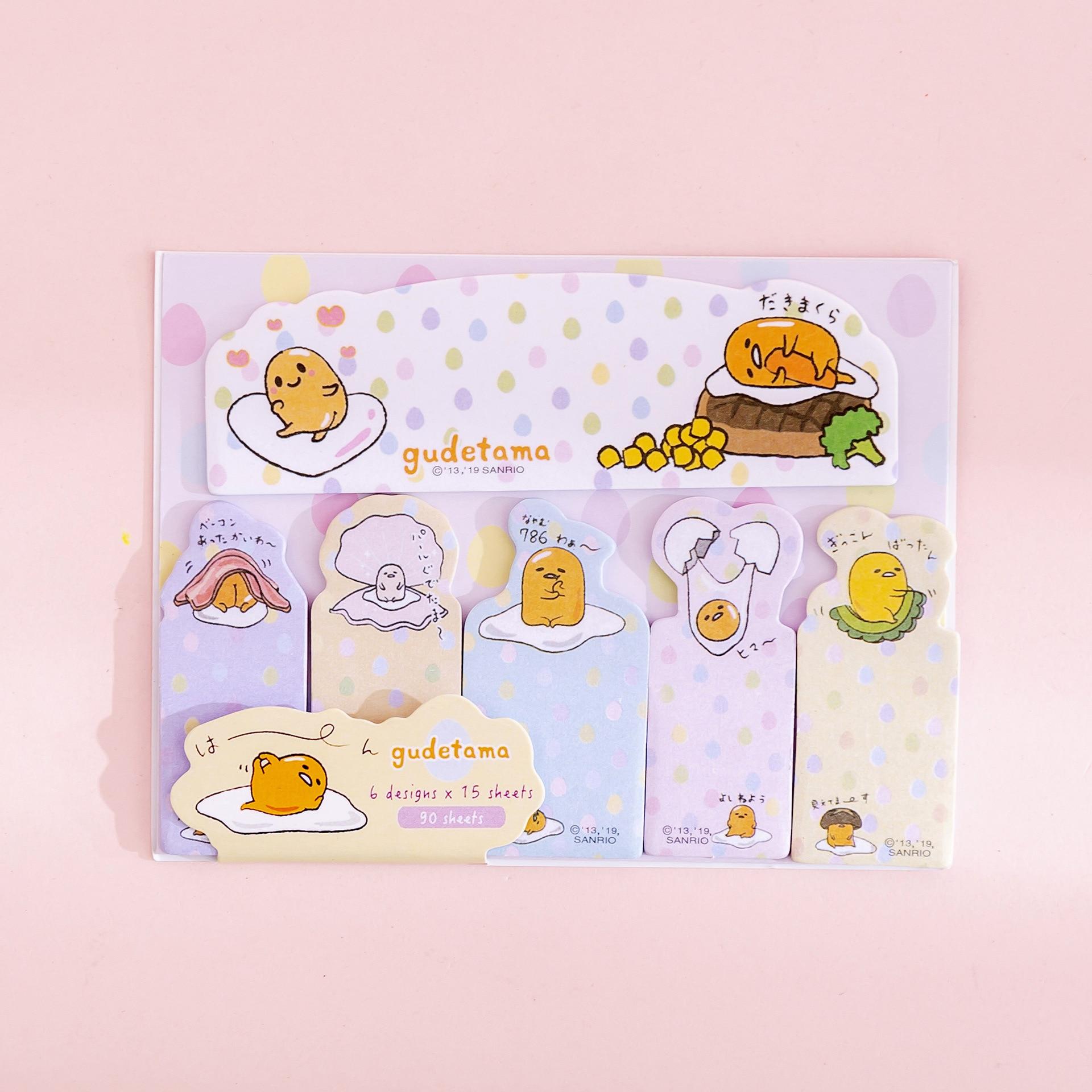 Cute  SANRIO Gudetama 4 Pc Stationary Figure Stickers Pens Set Gift LAZY EGG