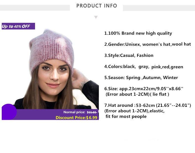Xthree-new-simple-Rabbit-fur-Beanie-Hat-for-Women-Winter-hat-for-children-Skullies-Warm-Gravity_