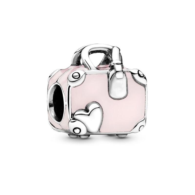 粉色旅行袋 串饰