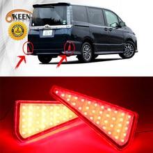 2pcs LED Rear Bumper Reflectors Light For Toyota Noah 2015 Voxy 2015 Tail Light Brake Stop Warning Turn Signal Lights Fog Lamp(China)
