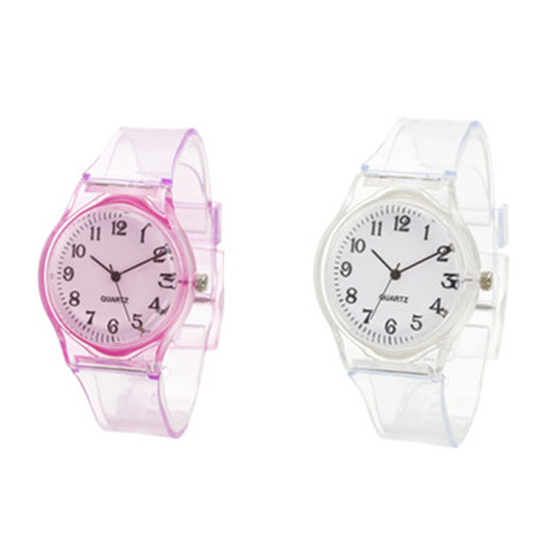 Transparent Watch Clock Wrist Girls Kids Casual 1pc Jelly XYR title=