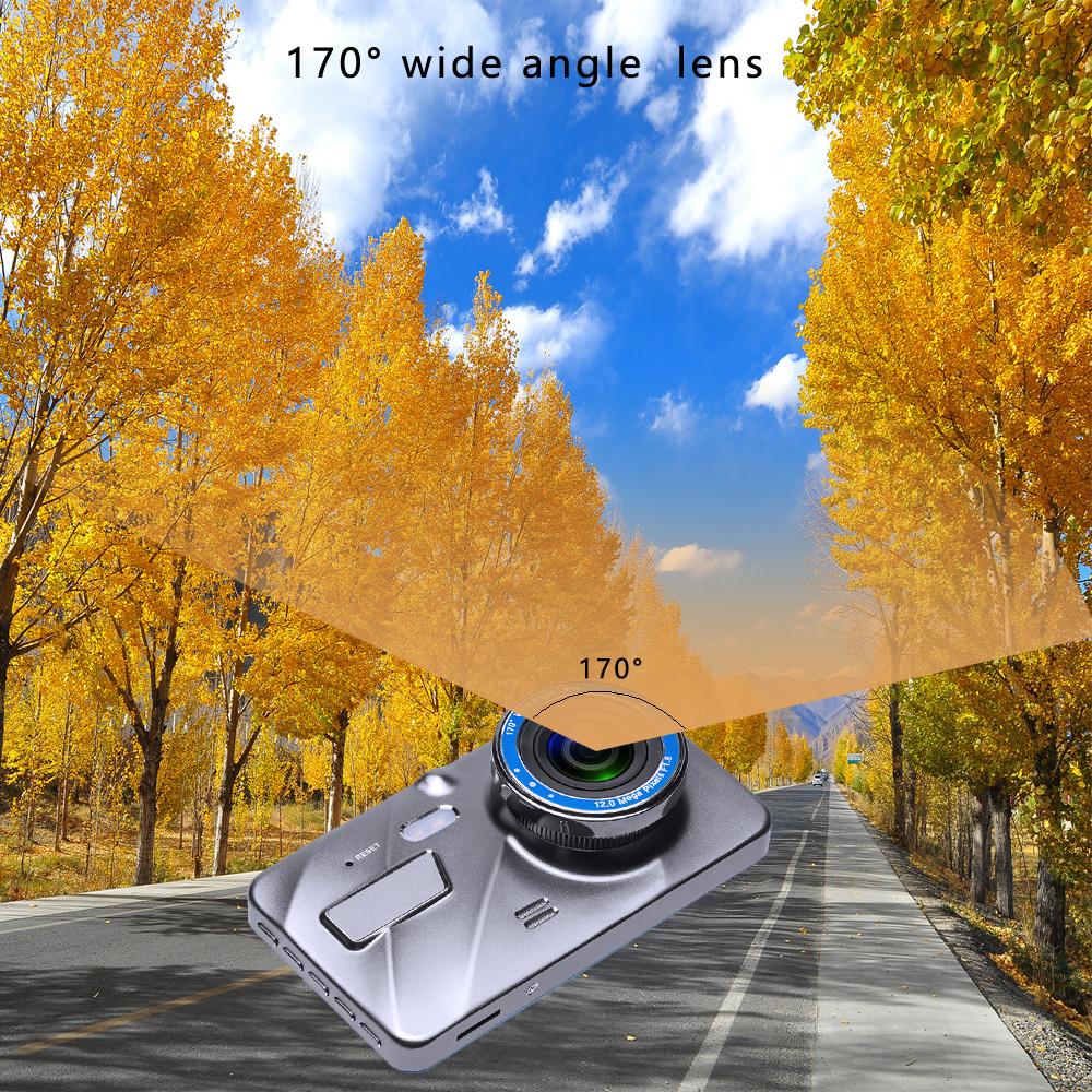 3Dash Cam New Dual Lens Car DVR Camera Full HD 1080P 4 IPS Front+Rear Mirror Night Vision Video Recorder Parking Monitor