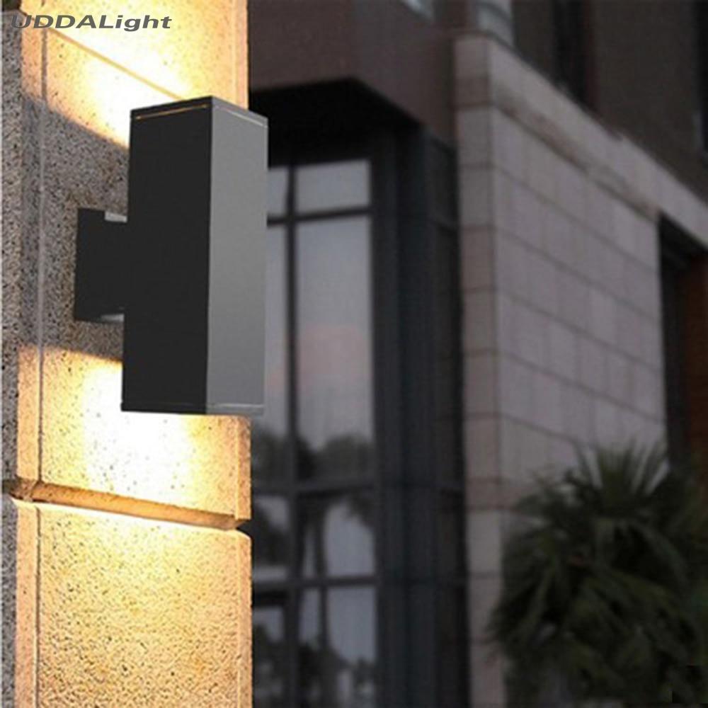 wall lamp outdoor 10w waterproof up down outdoor lighting square 65*65*180mm black gray garden