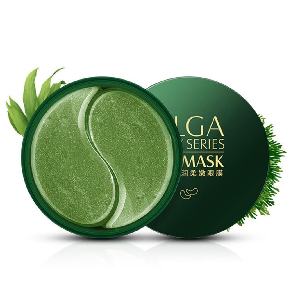 Green - 60pcs Gold/Seaweed/Black Pearl Collagen Eye Mask Face Anti Wrinkle Gel Sleep Mask Eye Patches Moisturizing Eye Mask Eye Care