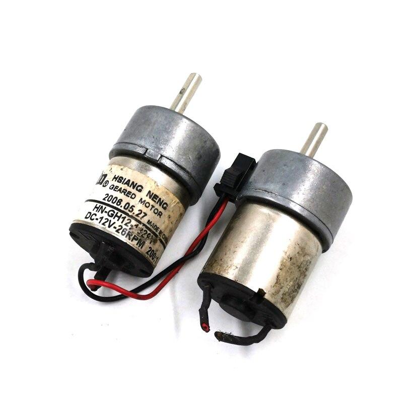 1PCS DC6-12V 25-56RPM 300 Gearmotor Plastic Long Output Shaft Worm Gear Motor