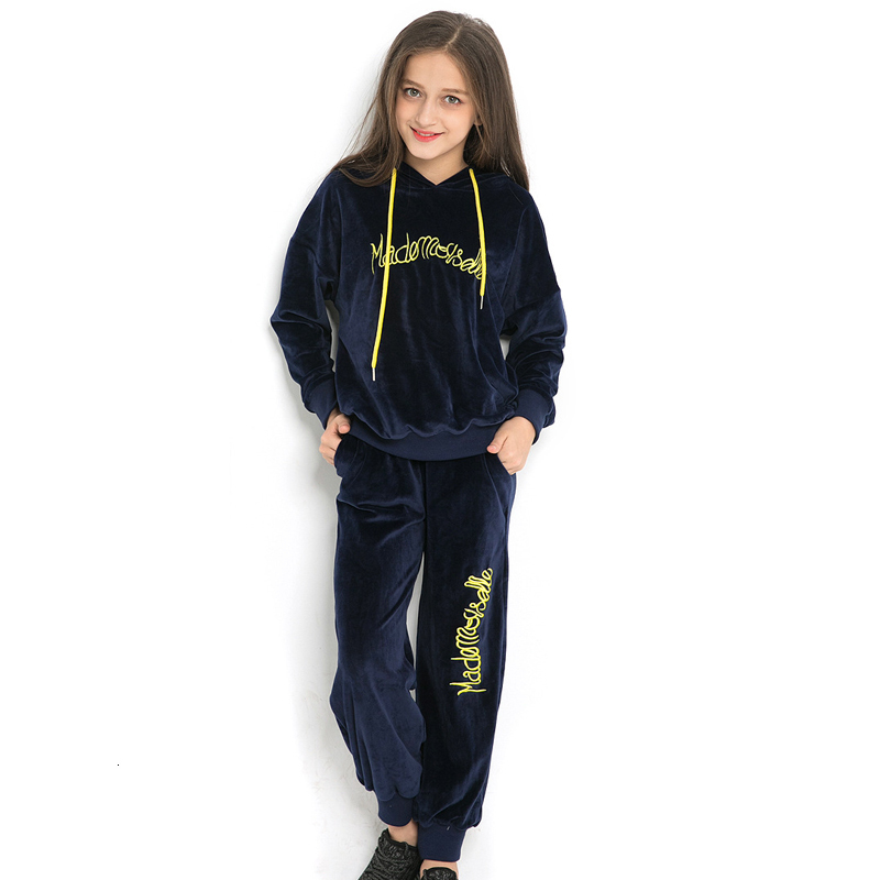 Clothing Sets Girls Clothes Sets Autumn Winter Teenage Girls Hooded Clothes Big Girls Sets Age 5 6 7 8 10 11 12 Years old