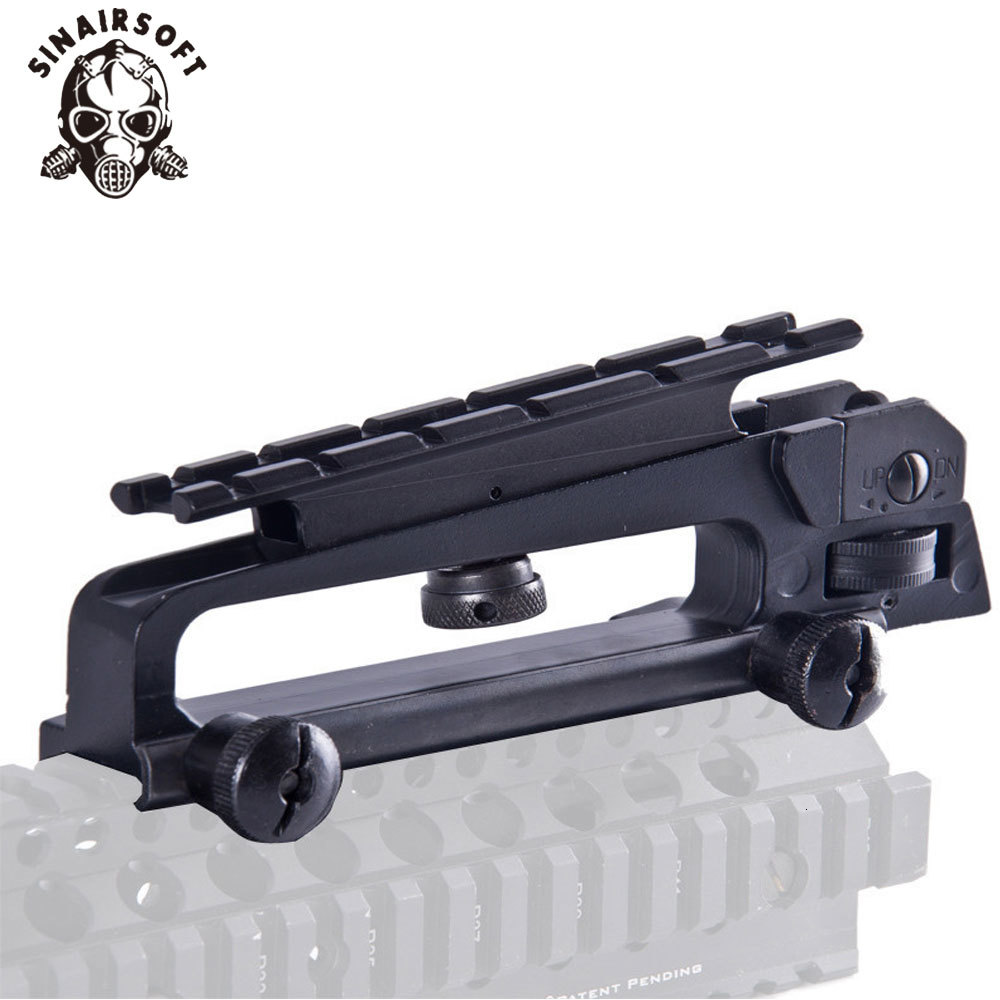 Metal Carry Handle Detachable W// Dual Apertures Rear Sight+Picatinny Weaver Rail