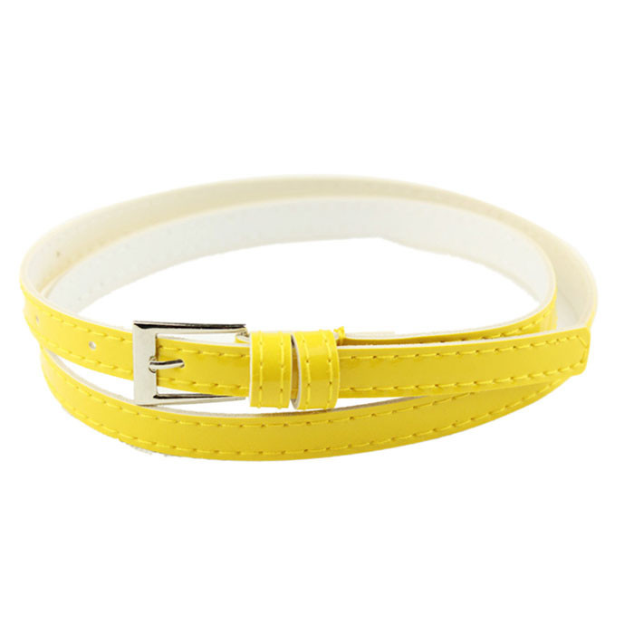 Best selling new thin belt ladies candy color fashion popular simple style daily match street beat birthday gifts