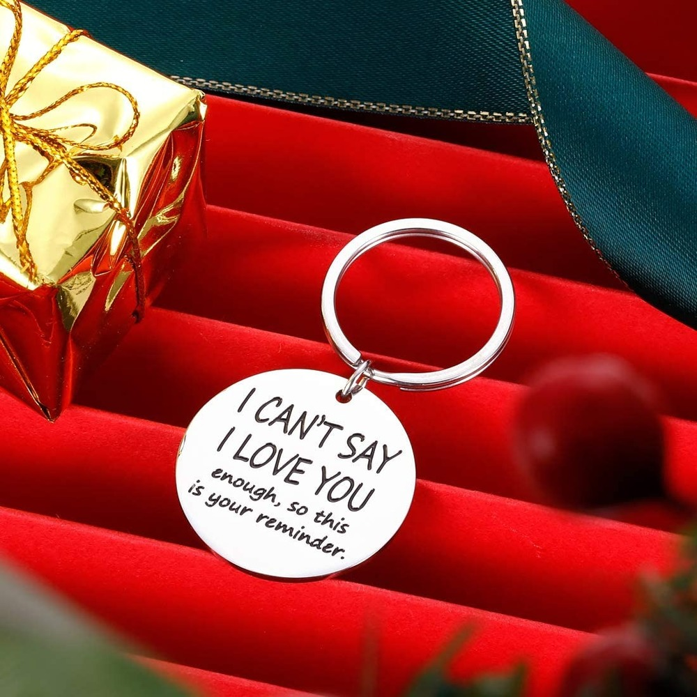 Funny Keychain Gift for Boyfriend Husband from Girlfriend Wife Valentines Day for Men Him Anniversary Birthday Christmas Wedding Engagement Gifts Fiance Gifts Male Thanks for All The Orgass Key ring
