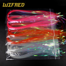 Flashabou Holographic Tinsel Lure Fishing Fly-Tying-Material Stonefly Nymph Wifreo Back-Jig