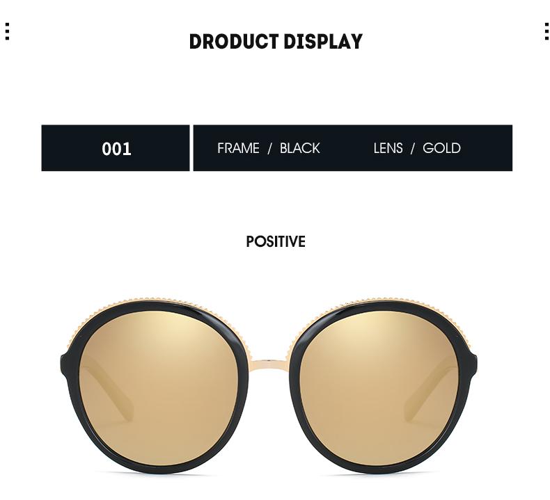 Women Sunglasses Frame Glasses Polariod Lens UV400 Polarized Sunglasses Women Fashion Round Frame Eyewear Glasses (22)