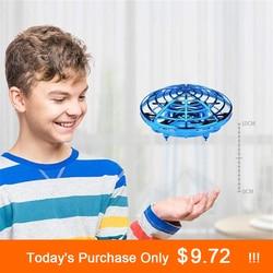 Анти-столкновения Летающий вертолет волшебный ручной НЛО мяч самолет зондирования мини индукционный Дрон дети электрическая электронная ...