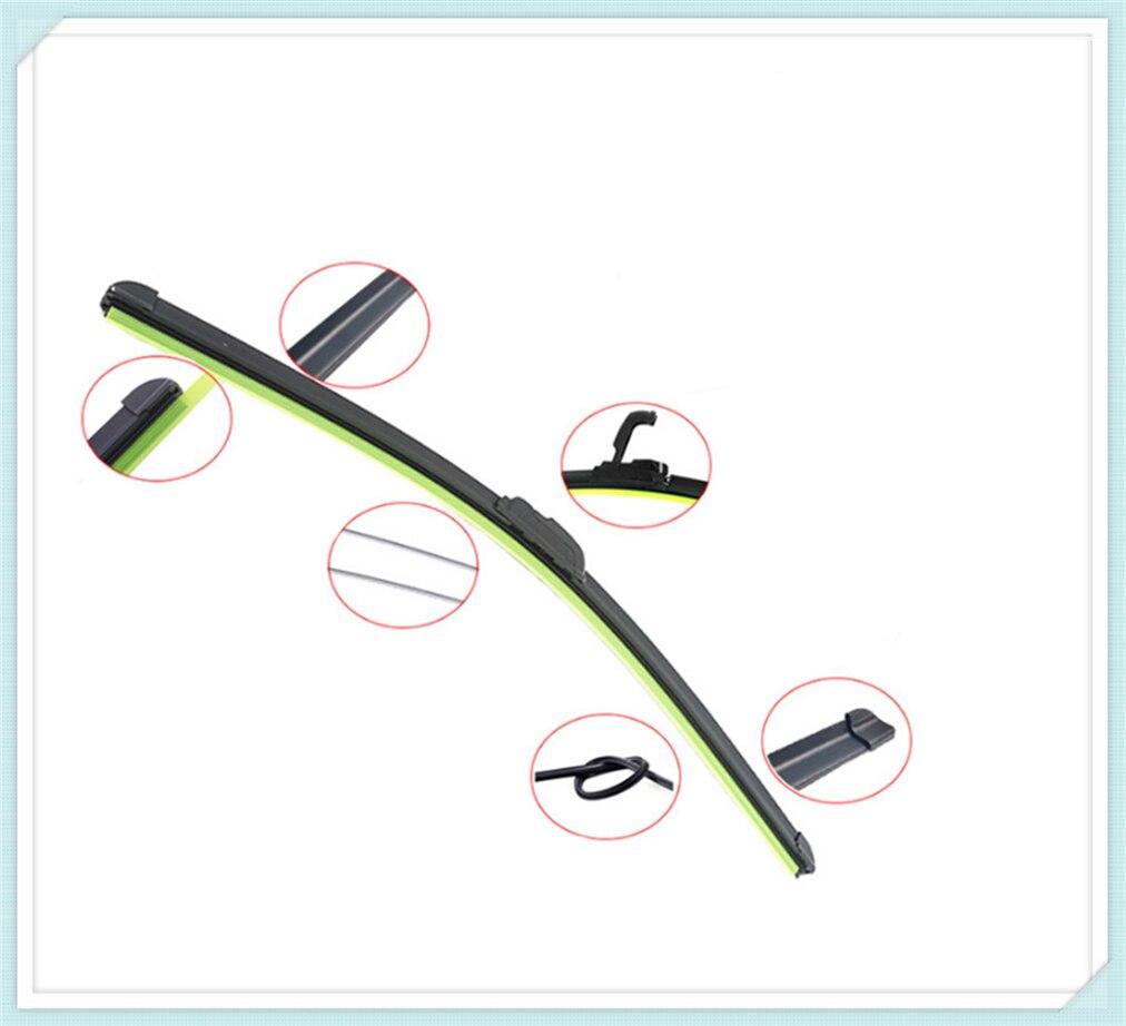 Universal U-shaped soft frameless bracketless car windshield wiper blade for BMW 330e M235i Compact 520d 518d 428i 530d 130i